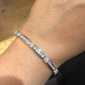 Jewelry - Stunning sterling silver and CZ bracelet